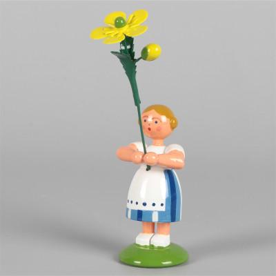 Blumenkind Mädchen mit Butterblume