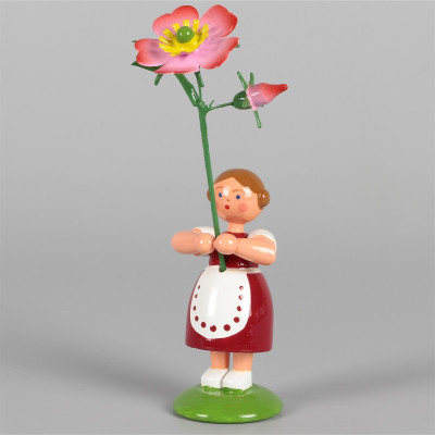 Blumenkind Mädchen mit Heckenrose