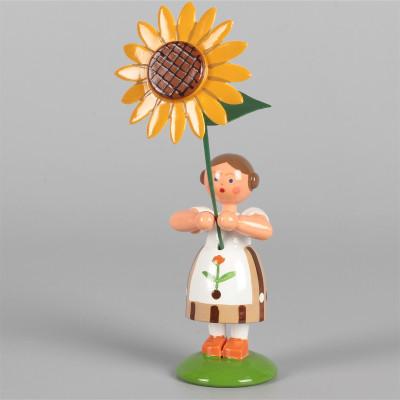 Blumenkind Mädchen mit Sonnenblume