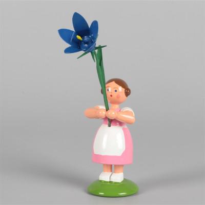 Blumenkind Mädchen mit Sommerglockenblume