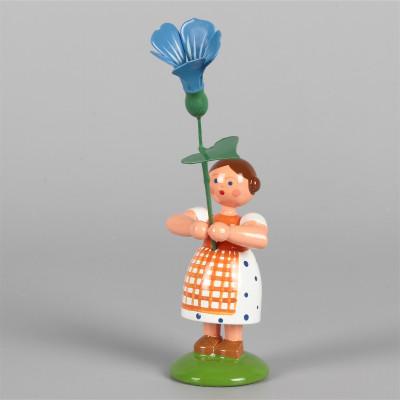 Blumenkind Mädchen mit blauer Prunkwinde