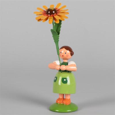 Blumenkind Mädchen mit Kokardenblume