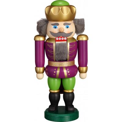 Nussknacker Exklusiv König purpur-grün
