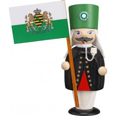 Räuchermännchen Bergmann mit Fahne