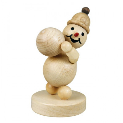 Schneemann Junior mit Schneekugel oben