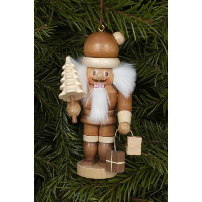 Baumbehang Weihnachtsmann natur mit Tanne