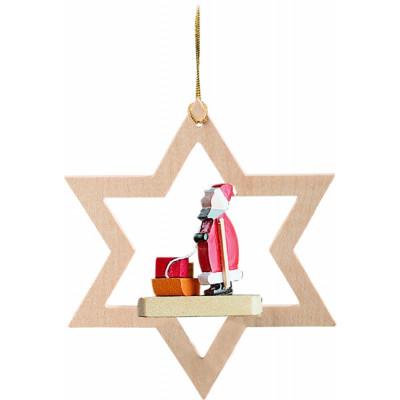Baumbehang Stern mit Weihnachtsmann