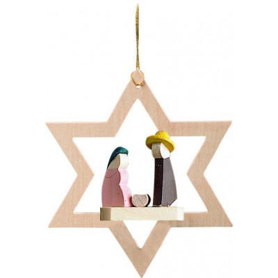 Baumbehang Stern mit Heiliger Familie