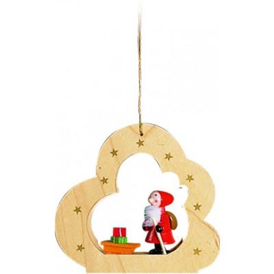 Baumbehang Wolke natur Nikolaus mit Schlitten
