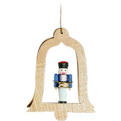 Baumbehang Glocke natur Nussknacker Trommler
