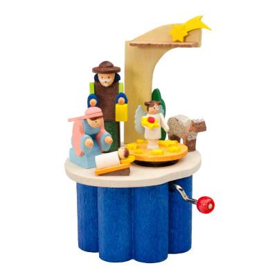 Kurbel-Spieldose Christi Geburt