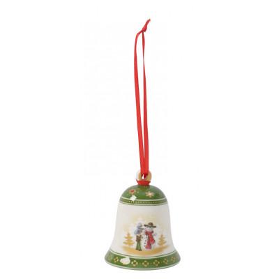 Baumbehang Glocke Schneemann bauen, 7 cm