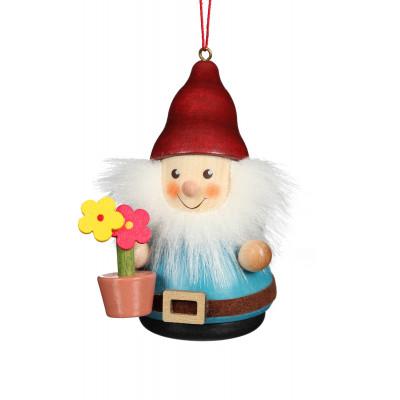 Baumbehang Wackelmännchen Zwerg mit Blumentopf
