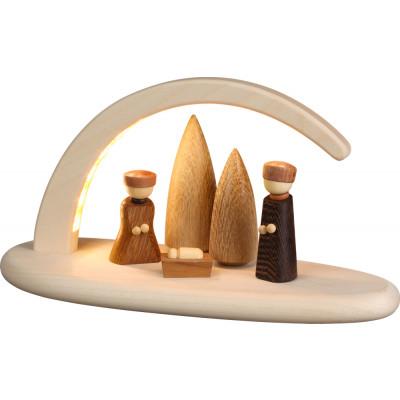 LED-Leuchterbogen mit Christi Geburt, natur
