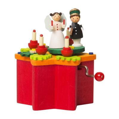 Kurbel-Spieldose Engel und Bergmann