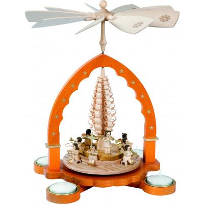 Teelichtpyramide Engelkonzert
