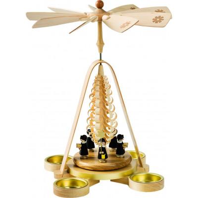 Teelichtpyramide mit Kurrende