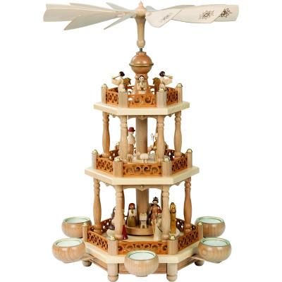 Teelichtpyramide 2-stöckig Christi Geburt