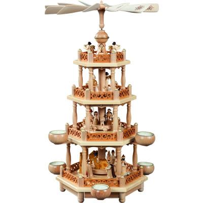 Teelichtpyramide 3-stöckig Christi Geburt