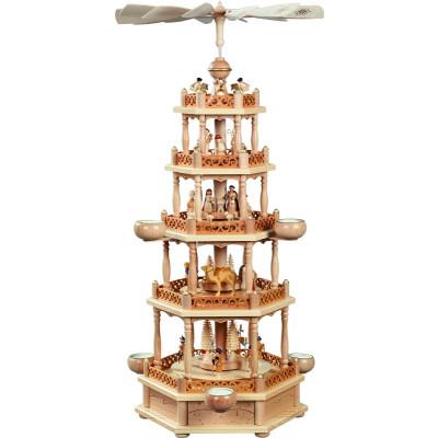 Teelichtpyramide 4-stöckig Christi Geburt
