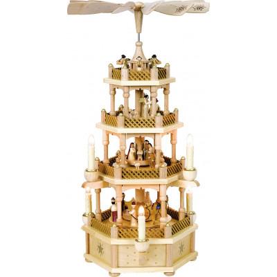 Pyramide Christi Geburt 3-stöckig, elektrisch
