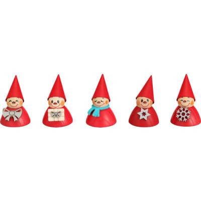 Wippelfiguren Weihnachts-Wippel, 5-teilig