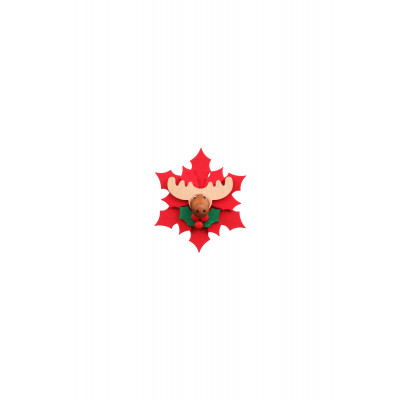 Magnetpin Weihnachtsstern mit Elch