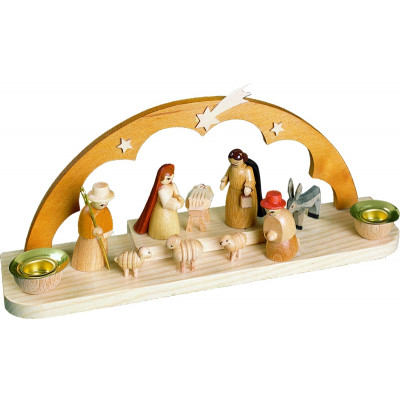 Kerzenhalter mit Christi Geburt