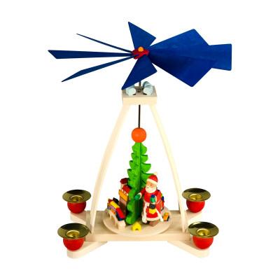 Tischpyramide mit Weihnachtsmann natur