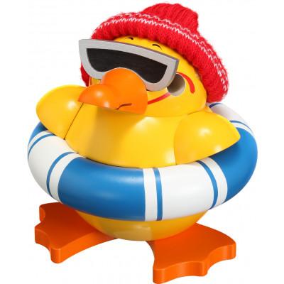 Kugelräucherfigur Ente mit Schwimmring