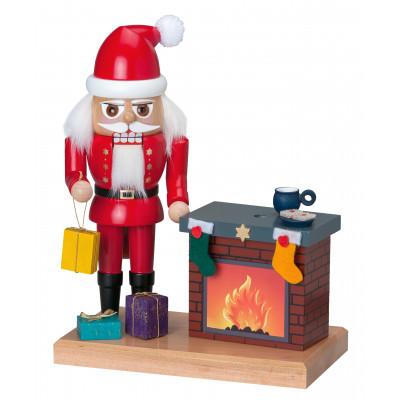 Nussknacker Weihnachtsmann mit Kamin
