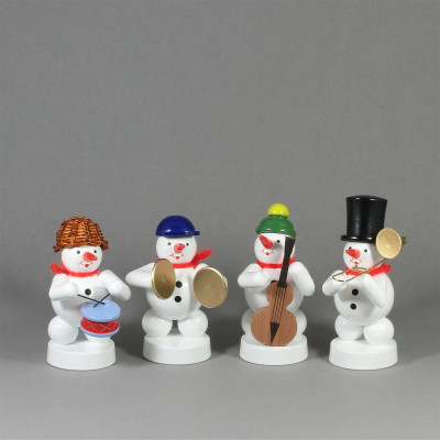 Schneemannkapelle Trompete, Bassgeige, Becken, Trommel, Posaune