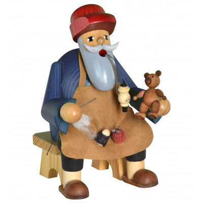 Räuchermännchen Kantenhocker auf Bank Teddymacher
