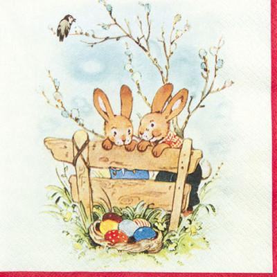 Tischservietten Hasenfreunde