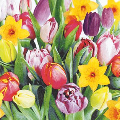 Tischservietten Tulpen Bouquet