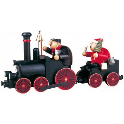 Räuchermännchen Lokführer mit Eisenbahn