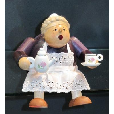 Räuchermännchen Kantenhocker Kaffeesächsin