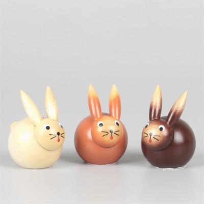 Kugelfigur Mini-Osterhasengruppe, 3-teilig