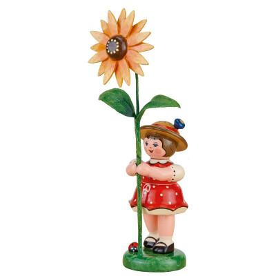 Blumenkind Mädchen mit Sonnenhut