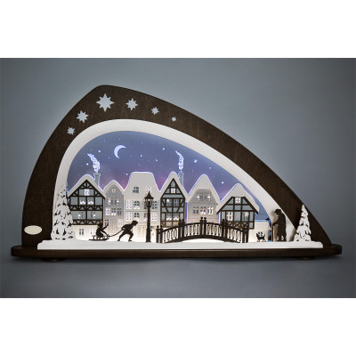LED Schwibbogen Winter in der Altstadt