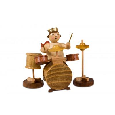 Engel mit Schlagzeug natur