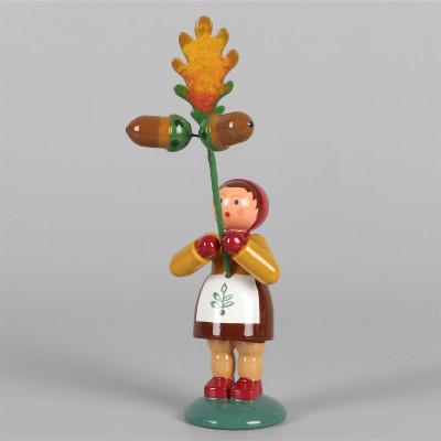 Blumenkind Herbstkind Mädchen mit Eichel