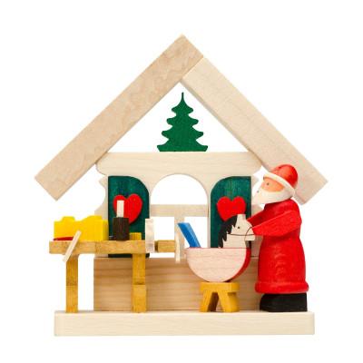 Baumbehang Haus Weihnachtsmann mit Werkstatt
