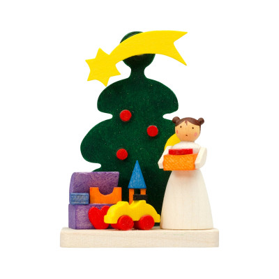 Baumbehang Baum mit Engel mit Spielzeug