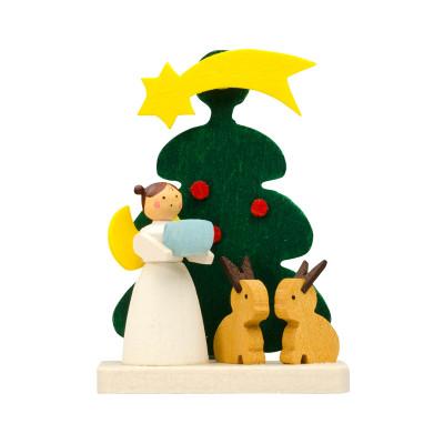 Baumbehang Baum mit Engel mit Hasen