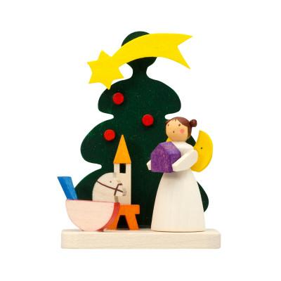 Baumbehang Baum mit Engel mit Schaukelpferd