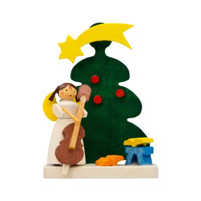 Baumbehang Baum mit Engel mit Cello