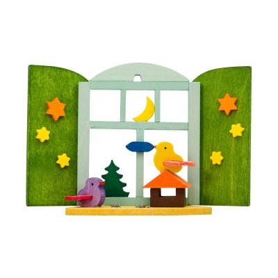 Baumbehang Weihnachtsfenster Vogelhaus