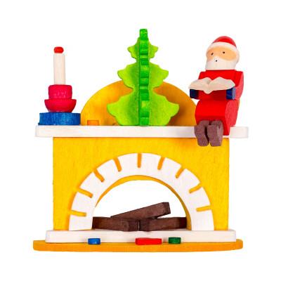 Baumbehang Kleiner Kamin mit Weihnachtsmann