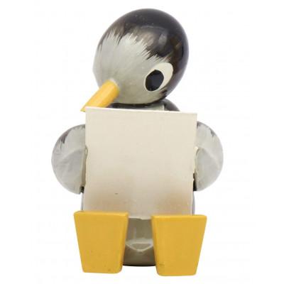 Pinguin groß, lesend